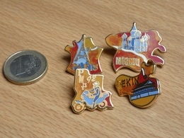 RALLYE PARIS MOSCOU PEKIN 1992. PUZZLE 4 PIN'S. ZAMAC. - Rallye