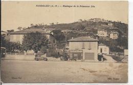 06. MANDELIEU.  MONTAGNE DE LA PRINCESSE ZITA ET CAFE DE LA MAIRIE - Other Municipalities