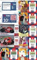 ITALIA-(ITALY)-TIM -LOT OF 10- PHONECARDS - USED - Italia