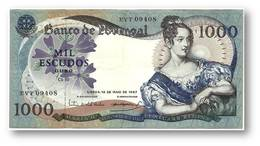1000 Escudos - Ch. 10 - 19/05/1967 - P 172 - Sign. 2 - Serie EVT - 5 Digit Serial # - Used - D. Maria II - PORTUGAL - Portugal