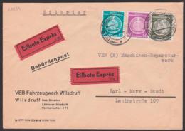 DDR Dienstpost Eil-Brief VEB Fahrzeugwerk Wilsdruff Schöne MiF Mit 10, 20 Und 50 Pf. Dienst - Service