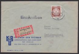 DDR Dienstpost R-OrtsDoppel-Brief Karl-Marx-Stadt C1, Kammer Der Technik - [6] Oost-Duitsland