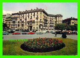 GENÈVE, SUISSE - L'HÔTEL BEAU-RIVAGE - CIRCULÉ EN 1962 - ANIMÉE DE VIEILLE VOITURES - EDITIONS JAEGER - - GE Genève
