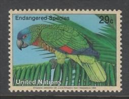 TIMBRE NEUF DES NATIONS UNIES N. Y. - AMAZONA VERSICOLOR N° Y&T 652 - Papageien