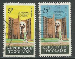 Togo YT N°357-359 Indépendance Oblitéré ° - Togo (1960-...)