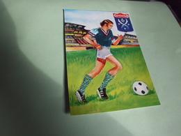 BELLE ILLUSTRATION ....CARTE BRODEE ...FOOTBALL ...SAINT-ETIENNE - Brodées