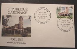 Enveloppe 1° Jour GABON NOEL 89   15 Décembre 1989 - Gabon (1960-...)