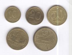 Lot 5 Monnaies Brésil / Brasil - Ancien Cruzeiro / Cruzeiro Antigo - 1943-1948 - TTB+ - Brazil