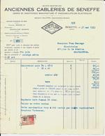 SENEFFE    -   Anciennes Câbleries De Seneffe  1933 - Électricité & Gaz
