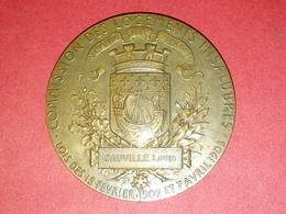 SUPERBE MÉDAILLE BRONZE R.F. COMMISSION DES LOGEMENTS INSALUBRES LOI DE 1902/1903 PAR D. DUPUIS 50 Gr 66.5 Gr - Francia