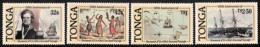 [812000]Tonga 1987 - N° 652/55, Voyage De Dumont D'Urville, SC, Bateaux, Cartes - Tonga (1970-...)
