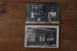 2 Cartes Photos  Restaurants Cafés Vers 1910 Belles Animations - Hotels & Restaurants