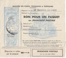 FRANCE FM TIMBRE POUR COLIS EN FRANCHISE ** - Militaire Zegels (zonder Portkosten)