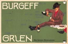 Künstler-AK Reklame Für Burgeff Gruen Sekt, Paar Beim Picknick, Jugendstil        X 5853 - Vignes