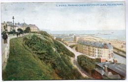 CPA - Carte Postale - Royaume Uni - Marine Crescent From Leas - Folkestone - 1915 (M7006) - Folkestone