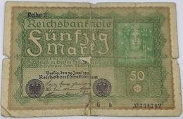 Billete Alemania. 50 Marcos. 1919 - [ 3] 1918-1933: Weimarrepubliek