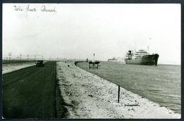 AK The Suez Canal, Mit Schiff, Dampfer - Sues