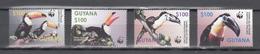 Guyana 2003,4V,set,WWF,birds,vogels,vögel,oiseaux,pajaros,uccelli,MNH/Postfris(A3669) - Oiseaux