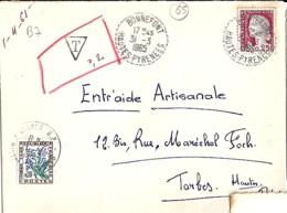 65 - HAUTES PYRENEES - BONNEFONT - 1965 - TàD De Type B7 - Manual Postmarks