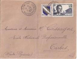 65 - HAUTES PYRENEES - CAMPAN - 1957 - TàD De Type A7  SUR DEVANT - Marcophilie (Lettres)