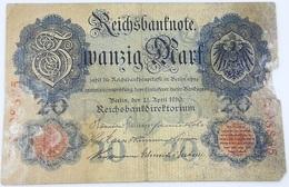 Billete Alemania. 20 Marcos. 1910 - [ 2] 1871-1918 : Imperio Alemán