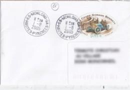 65 - HAUTES PYRENEES -  65.MONLONG GA - 1992/05 - TàD DE TYPE A9 - Postmark Collection (Covers)