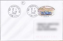 65 - HAUTES PYRENEES - 65.PUNTOUS GA - 2005 - TàD De Type  A9 - Postmark Collection (Covers)