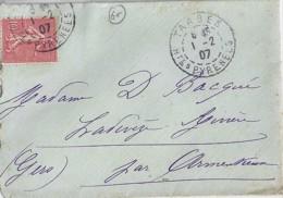 65 - HAUTES PYRENEES - TARBES - 1907 - TàD De Type  A3 - Manual Postmarks