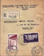65 - HAUTES PYRENEES - TARBES - 1952/56 - TàD De Type A7 - Marcophilie (Lettres)