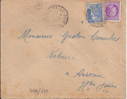 65 - HAUTES PYRENEES - VIEILLE AURE - 1947 - TàD De TYPE A6 - Marcophilie (Lettres)
