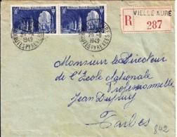 65 - HAUTES PYRENEES - VIEILLE AURE - 1949 - TàD De TYPE A6 - Postmark Collection (Covers)