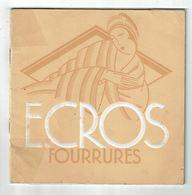 Catalogue EMILE CROS FOURRURES  Paris Vichy éd Janmot Imp Kossuth 1937 - Mode