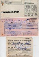 VP14. 361 - 1969 - Lot De Documents De La S.N.C.F. - Voyage PARIS X GRENOBLE X DEUX ALPES - Chemins De Fer