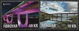 2018 Färöer  Set **MNH EUROPA  Ponte, Bridge, Pont, - 2018