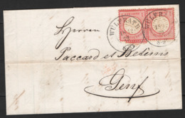 Germania Reich 1872 Unif.16 Coppia Su Lettera Per Ginevra 18/12/72 VF/F - Deutschland