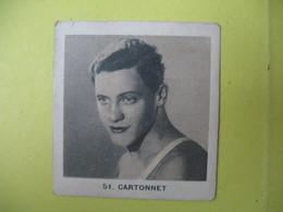"""Petite Carte Publicitaire """"Gomme à Macher"""" Natation  Jacques Cartonnet  Champion Recordman Du 100 Mètres Brasse En 1'12 - Natation"""