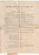 *** 17  **** Election Législative 1885 CHARENTE INFERIEURE - Liste Républicaine - - Decretos & Leyes
