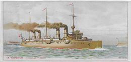 Chromo  Lessive Et Savon Parfumé  MIKADO 17 X 8 Cm > Bateau Militaire /LE GUICHEN Croiseur  1ère Cl    Coulange Lautrec - Chromos