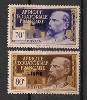AEF - 1940 - N°Yv. 111 Et 113 - 70c + 80c - Libre - Neuf Luxe ** / MNH / Postfrisch - Nuovi