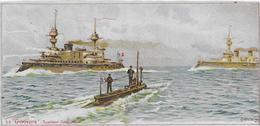 Chromo  Lessive Et Savon Parfumé  MIKADO 17 X 8 Cm > Bateau Militaire /LE GYMNOTE  Torpilleur Sous-mar  Coulange Lautrec - Chromos