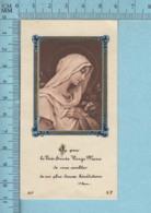 France BF, AP - Gold Print, Vierge Marie Voulant Combler.... Image Pieuse, Religieuse, Holy Card, Santini - Images Religieuses