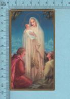 - Gold Print, Jesus Marie Et Deux Apotres, Image Pieuse, Religieuse, Holy Card, Santini - Images Religieuses