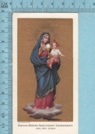 Salamone Roma- Gold Print,Domina Nostra Sanctissimi Sacramenti , Image Pieuse, Religieuse, Holy Card, Santini - Images Religieuses