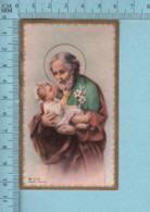 KCGO Germany - Gold Print, Saint Joseph Tenant Jésus, Image Pieuse, Religieuse, Holy Card, Santini - Images Religieuses