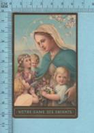 OCC Montreal - Gold Print, Notre Dame Des Enfants, Image Pieuse, Religieuse, Holy Card, Santini - Images Religieuses
