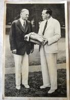 Foto Cromo Olimpiada De Los Ángeles. 1932. Nº 1. Presidente USA Herbert Hoover. Hecho En 1936 Para Olimpiada De Berlín. - Tarjetas