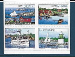 Timbres Neufs** De Suède,2004, Autoadhésifs, N° 2388-91 Yt, Archipel De Stockholm, Phare, Lighthouse - Suède