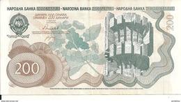 YOUGOSLAVIE 200 DINARA 1990 VF P 102 - Yougoslavie