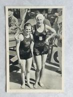 Foto Cromo Olimpiada De Los Ángeles. 1932. Nº 98. Natación 100 M, Helene Madison, USA, Ouden, Holanda. Hecho En 1936 - Tarjetas