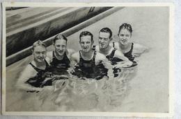 Foto Cromo Olimpiada De Los Ángeles. 1932. Nº 109. Natación, Suecia, Erskil Lundahl, Siegfried Haynar, Stig Lindström - Tarjetas